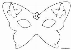 Malvorlage Maske Schmetterling Coloring Butterfly Template Simple With Photo Of Coloring