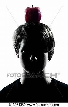 Malvorlagen Apfel Jung Eins Kaukasisches Jung Silhouette Junge
