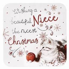 christmas card niece christmas cat card factory