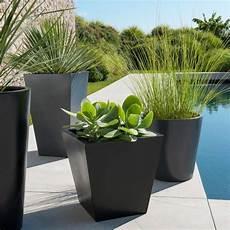 Pot Bas Carr 233 Doz 35 X 35 Cm Noir Ext 233 Rieur Jardins