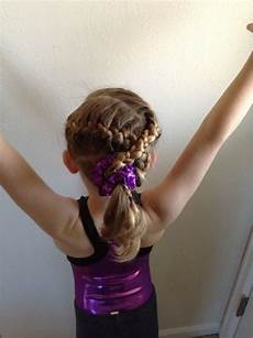 gymnastics hair d s first meet delaney pinterest
