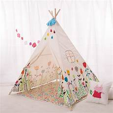 lovely teepee four poles children play tent