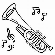 simple trumpet coloring pages
