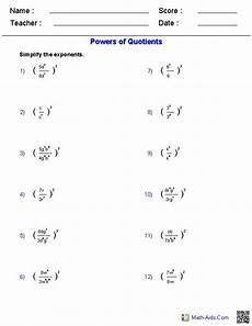 probability worksheets math aids 5707 powers of quotients worksheets math aids math worksheets algebra and math