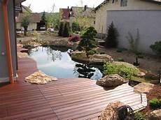 Gartenteich Mit Holzterrasse Gartenteiche Teichbauer