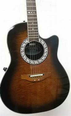 Ovation Ultra Deluxe Model 1528d Acoustic Electric Guitar