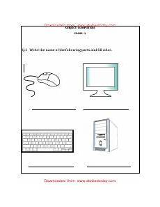 cbse class 1 computer science worksheet the keyboard downloaded from studiestoday com