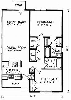 2br 2b 1floor house plan chp 24133 at coolhouseplans com