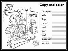 worksheets colors and toys 12707 enjoy teaching