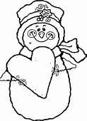 Coloring Snowman Pages For Kids Free Printable