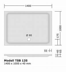 Duschtasse 100 X 140 - duschwanne 140x100 4 0 cm flach aus sanit 228 racryl
