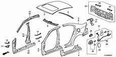 2011 acura tsx engine diagram 04631 tl0 g00zz genuine acura panel r side sill