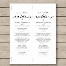 wedding program template 41 free word pdf psd documents download free premium