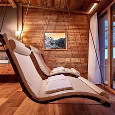 sauna ruheraum möbel my home includes these swinging loungers in sauna