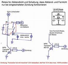 abblendlicht relais mit schutz vor batterie entladung cx