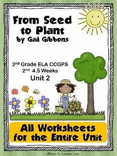plant kingdom worksheets for grade 2 13758 from seed to plant 2nd grade ela ccgps unit 2 by door to common teachers pay teachers