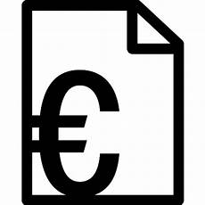 invoice in euros free commerce icons
