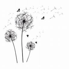 Dandelion Butterfly Self Adhesive Removable Wall Sticker