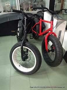 Sepeda Modifikasi Keren by Modifikasi Sepeda Pakai Velg Dan Ban Motor Keren Jadi