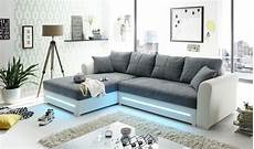schlafcouch l form ecksofa sofa couch schlafcouch schlafsofa led wei 223