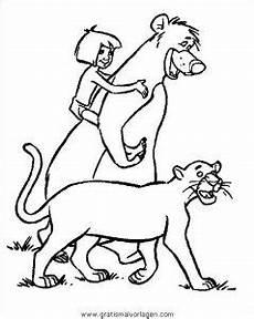 Ausmalbilder Dschungelbuch Balu Dschungelbuch033 Gratis Malvorlage In Comic