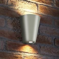 auraglow 14w outdoor double up down wall light weybridge silver auraglow led lighting