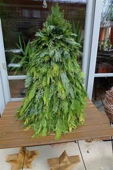 Weihnachtsbaum Aus Gr 252 Nschnitt Basteln Karin