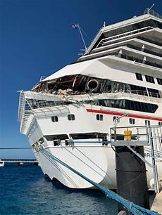 2 carnival cruise ships collide near port in cozumel mexico com