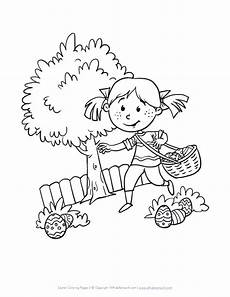 Easter Egg Hunt Coloring Sheets Easter Egg Hunt Coloring Pages At Getdrawings Free