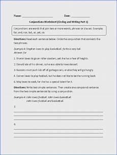 coordinating conjunction worksheet mychaume com