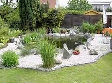 Gartenteich Bepflanzung Ratgeber Mit Garten Wei 223 Er Kies