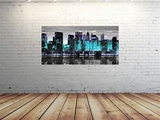 Glasbild 50 X 100 - hd glasbild eg4100500894 new york skyline t 220 rkis 100 x 50