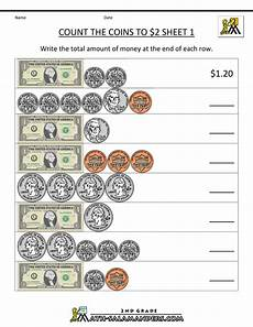 counting money worksheets for grade 2 2640 2nd grade math worksheets count the coins to 2 dollars 1 money math worksheets money math