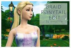 custom content hair sims 4 the sims 4 custom content braid ponytail edit