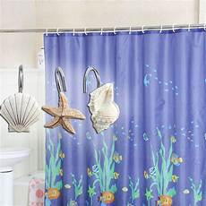 seashell shower curtain new 12 pcs decorative seashell shower curtain hooks