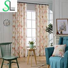 Rideaux Pour Salon Flower Printed Quality Curtains For Bedroom Floral Window