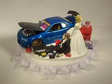 AUTO Mechanic Bride And Groom Nissan Skyline GTR R34 Blue