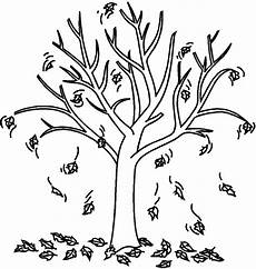 Ausmalbilder Herbst Baum Fall Tree Coloring Pages Getcoloringpages
