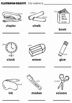 worksheets classroom objects 18220 lessons children june 2010