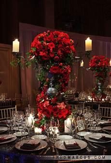 red rose wedding centerpieces