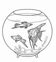 Ausmalbilder Fische Aquarium Ausmalbilder Malvorlagen Aquarium Fische Kostenlos