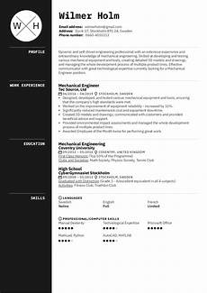 mechanical engineer resume sle kickresume