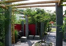 Kleiner Bambusgarten Pergola Bester Sichtschutz Im