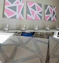 Keilrahmen Gestalten Geometrisch Motive Dreiecke Malen