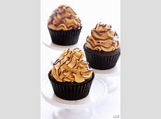 chocolate peanut butter surprise cupcakes   frosting_image