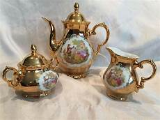 vintage 24 kt gold porcelain stw bavaria germany coffee
