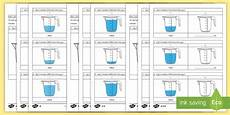 year 3 add and subtract volume differentiated worksheets ks2