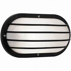 newport coastal oval nautical 10 in black outdoor wall light with grill 7971 01b the