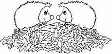 Ausmalbild Igel Im Laub Ausmalbilder F 252 R Kinder Malvorlagen Und Malbuch