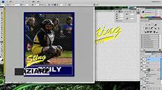 photoshop sports card template free photoshop tutorial baseball card